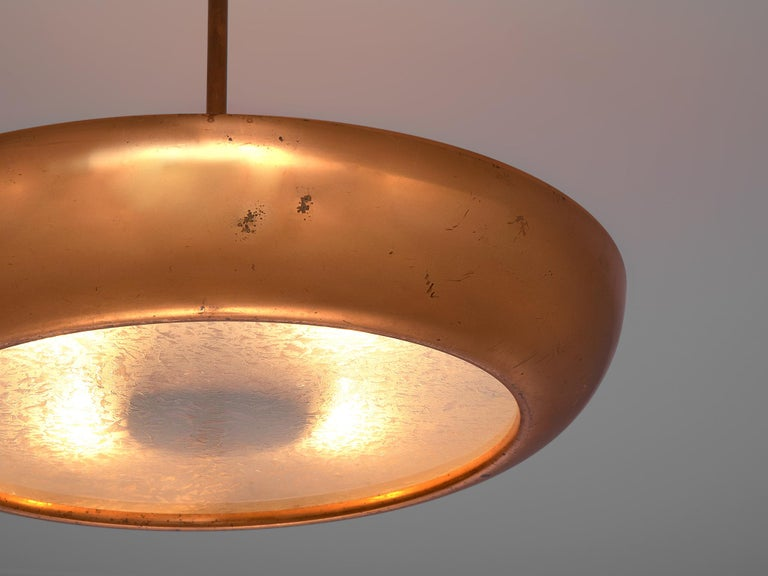 European Pair of Extra Large Copper Pendants For Sale