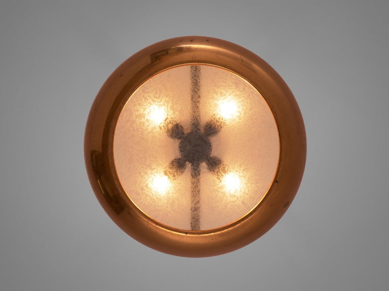 Pair of Extra Large Copper Pendants In Good Condition For Sale In Waalwijk, NL