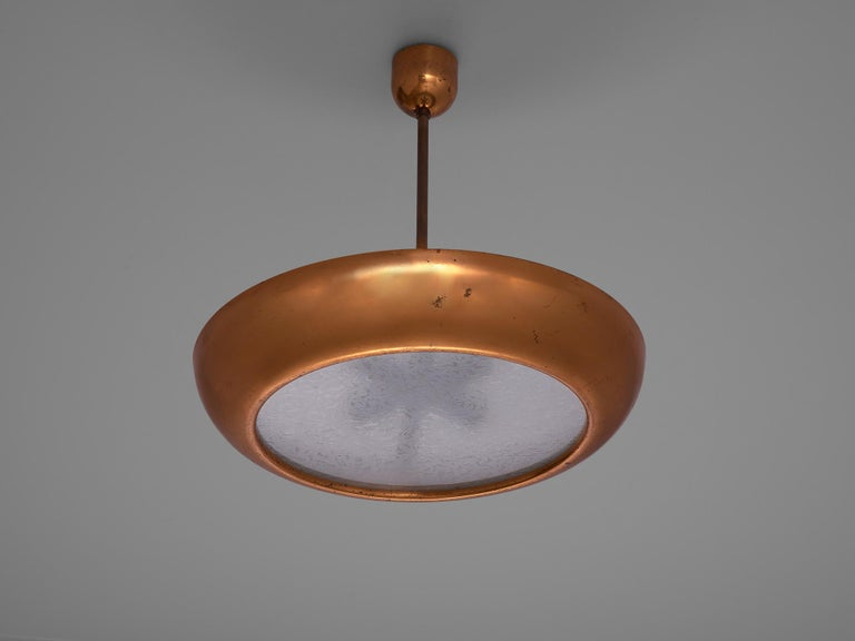 Pair of Extra Large Copper Pendants For Sale 1