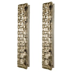 Pair of Extra Large Glass Wall Lights Sconces by Helena Tynell, 1960