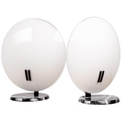 Pair of Extra Large Perla Table Lamps by Bruno Gecchelin
