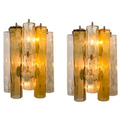 Pair of Extra Large Wall Sconces/Wall Lights Murano Glass, Barovier & Toso