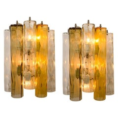Pair of Extra Large Wall Sconces or Wall Lights Murano Glass, Barovier & Toso