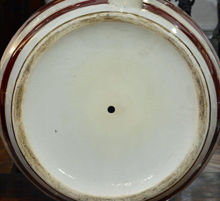 Pair of Eye-Catching 19th Century English Glazed Ceramic Liquor Barrels For Sale 4