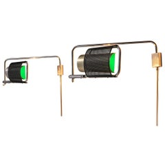 Pair of 'Eyeshade' Wall Lights by George Nelson & Associates