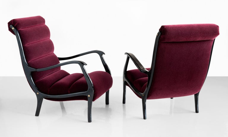 Modern Pair of Ezio Longhi Bentwood Armchairs, Italy, circa 1960 For Sale
