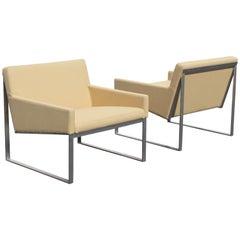 Pair of Fabien Baron for Berhardt Design B.3 Lounge Chairs