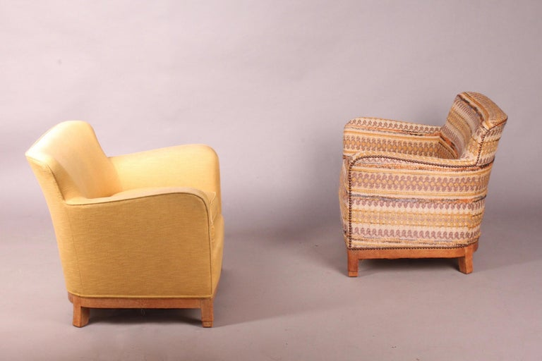 European Pair of Fabric Armchairs For Sale