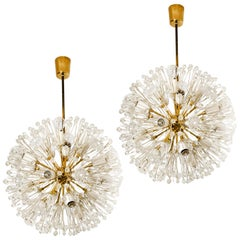 Pair of Fabulous Emil Stejnar Snowball Orbit Sputnik Chandeliers, Austria