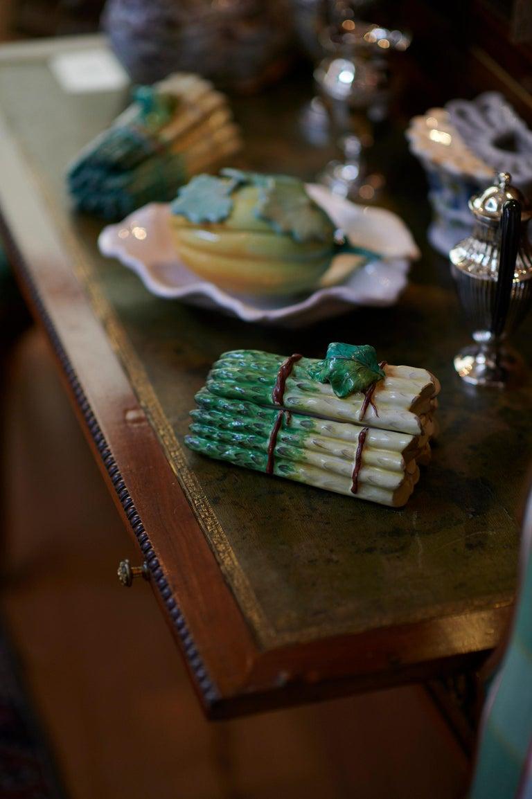 18th Century Pair of Faience Asparagus Bundles, France, 18th For Sale