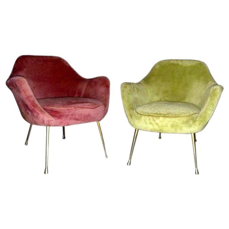 Pair of fake fur armchairs
