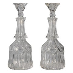 Pair of English Fancy-Cut Glass Bottles and Stoppers, circa 1880