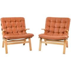 Pair of Farstrup Danish Midcentury Lounge Chairs