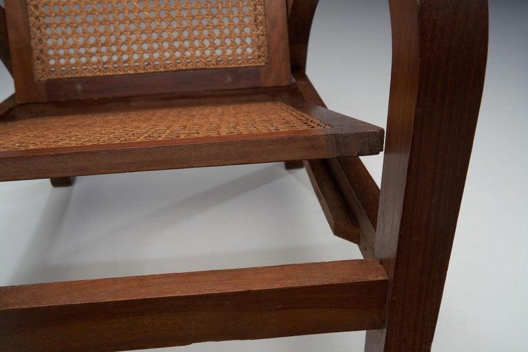 """Pair of """"Fauteuils de Paquebot"""" Chairs, France, 1950s For Sale 3"""