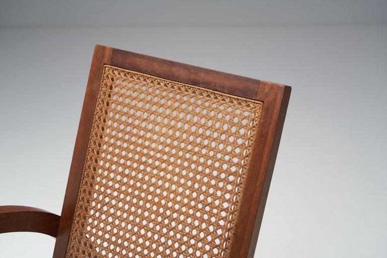 """Pair of """"Fauteuils de Paquebot"""" Chairs, France, 1950s For Sale 6"""