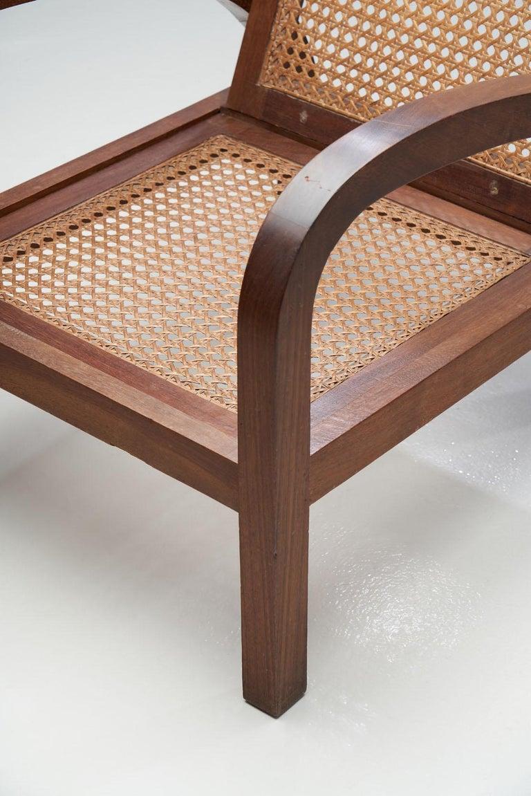 """Pair of """"Fauteuils de Paquebot"""" Chairs, France, 1950s For Sale 10"""