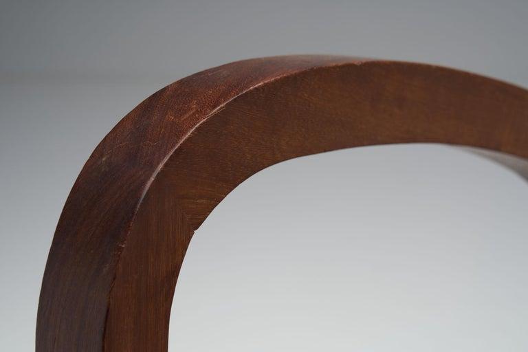 """Pair of """"Fauteuils de Paquebot"""" Chairs, France, 1950s For Sale 11"""