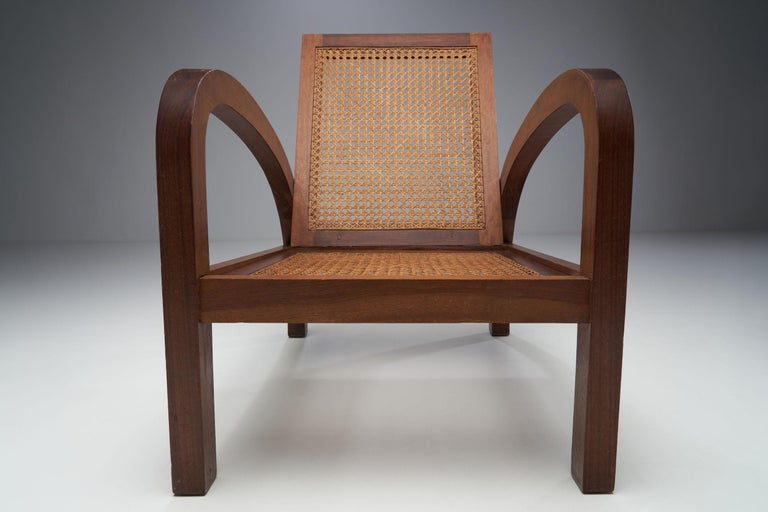 """Mid-20th Century Pair of """"Fauteuils de Paquebot"""" Chairs, France, 1950s For Sale"""