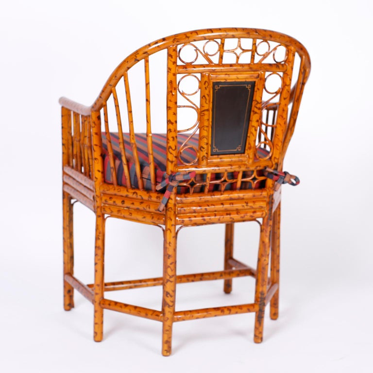 Pair of Faux Bamboo Brighton Pavilion Chairs 4
