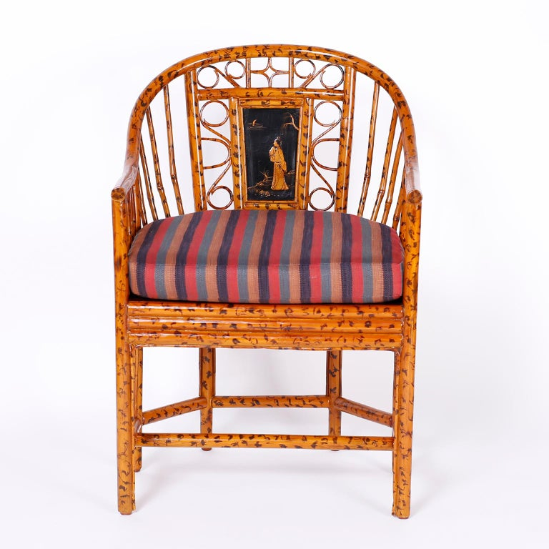 Philippine Pair of Faux Bamboo Brighton Pavilion Chairs