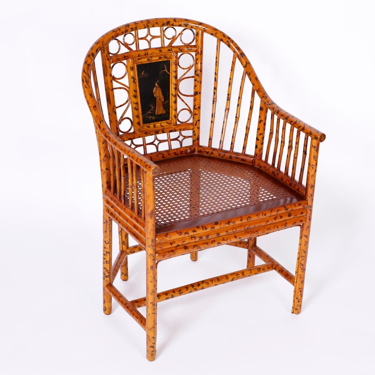 20th Century Pair of Faux Bamboo Brighton Pavilion Chairs