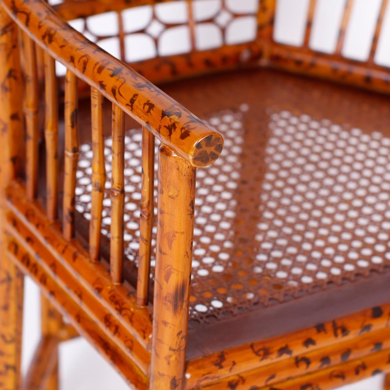 Pair of Faux Bamboo Brighton Pavilion Chairs 3