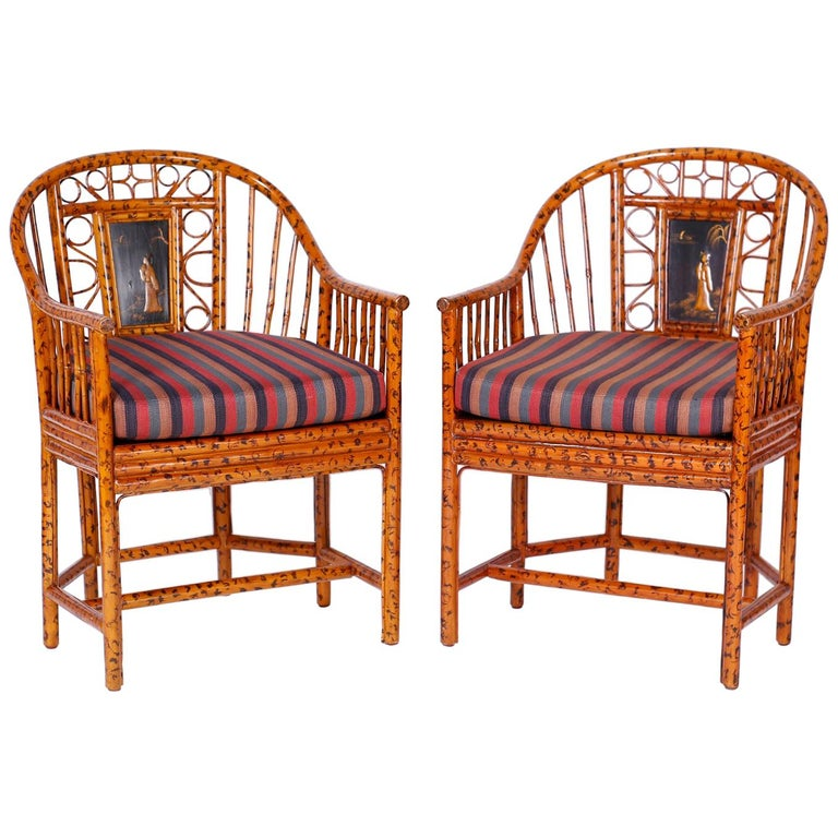 Pair of Faux Bamboo Brighton Pavilion Chairs