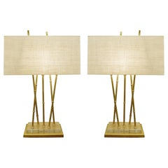 Pair of Faux Bamboo Table Lamps