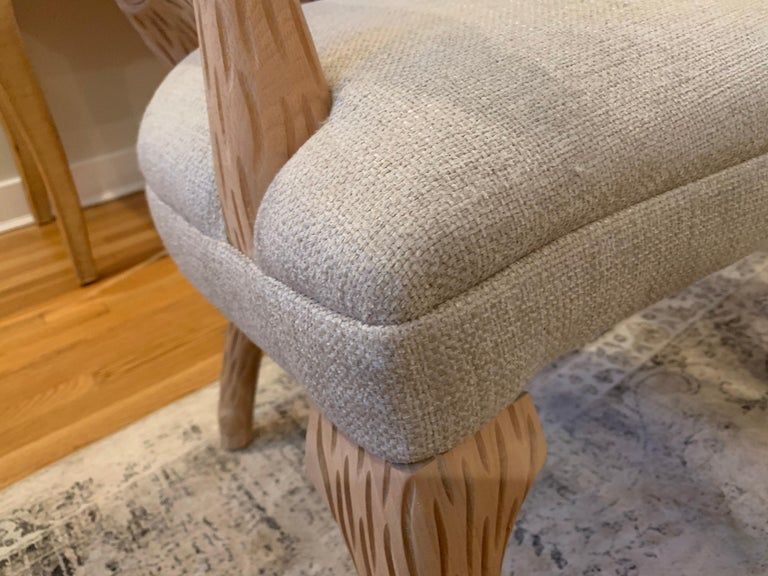 Pair of Faux Bois Bleached Armchairs In Good Condition For Sale In East Hampton, NY
