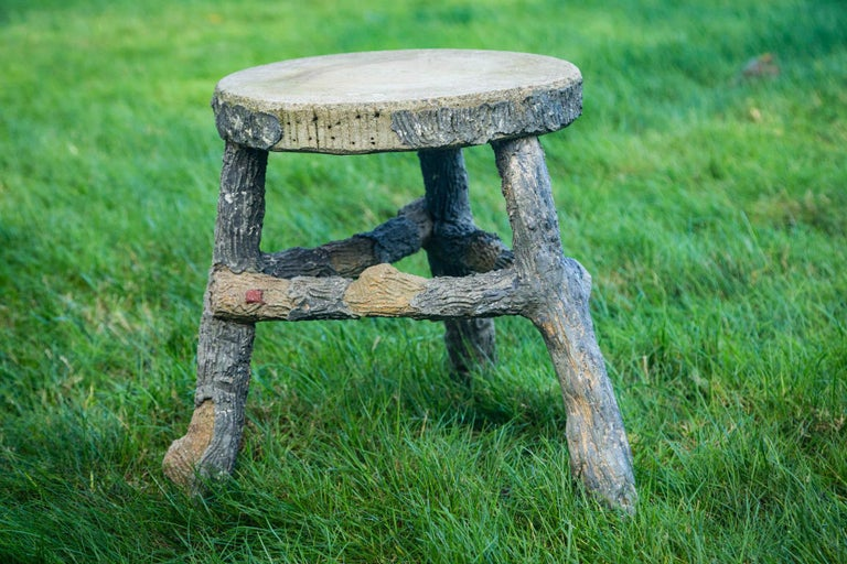 Pair of Faux Bois Stools For Sale 3