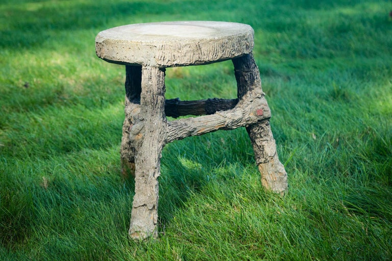 Pair of Faux Bois Stools For Sale 4