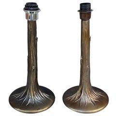 Pair of Faux Bois Table Lamps