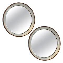 Pair of Faux-Painted Lacquered Mirrors