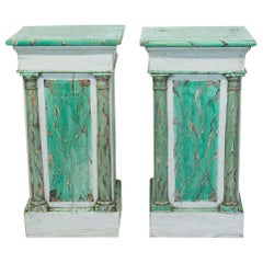 Pair of Faux Painted Pedestals