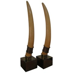 Pair of Faux Tusks by Chapman