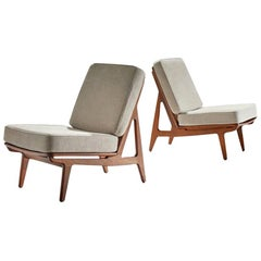 Pair of FD 172 Slipper Chairs by Peter Hvidt and Orla Mølgaard, Denmark, 1960s