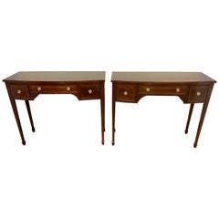 Pair of Federal Style Mahogany Console Tables