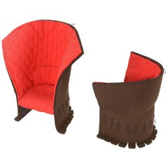 Pair of Feltri Armchairs by Gaetano Pesce for Cassina