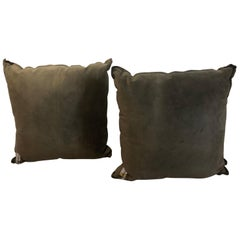 Pair of Fendi Large Suede Pillows