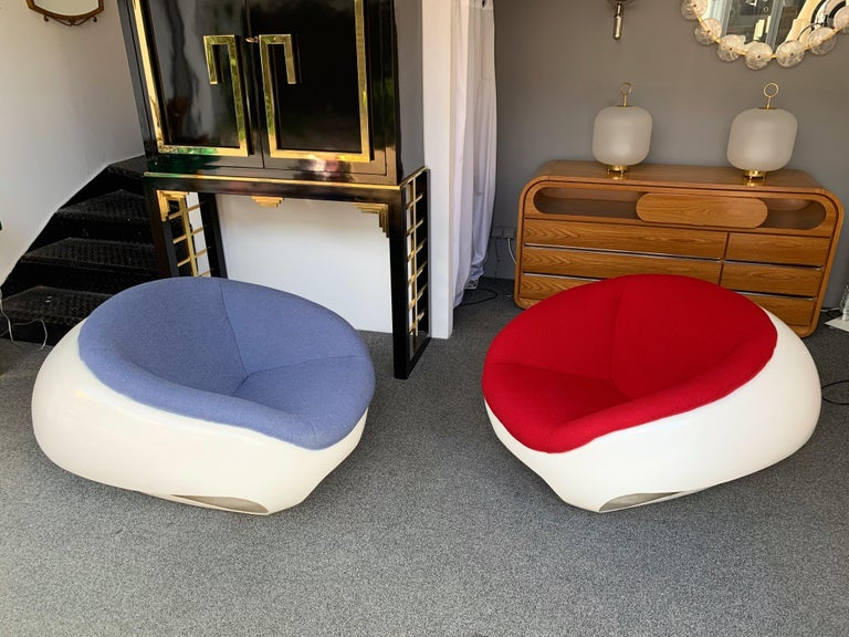 Pair of Fiberglass POD Armchairs by Mario Sabot, Italy, 1970s For Sale 4