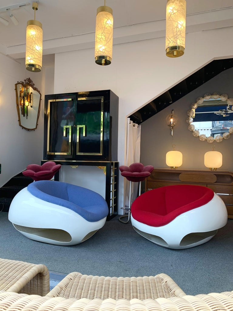 Pair of Fiberglass POD Armchairs by Mario Sabot, Italy, 1970s For Sale 5
