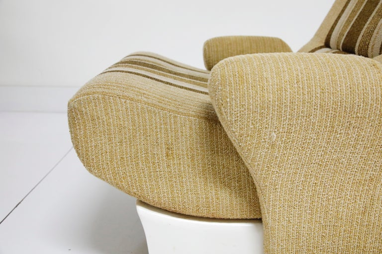 Pair of Fiberglass Scoop Lounge Chairs by Ernst Moeckl, Germany, 1960s 4