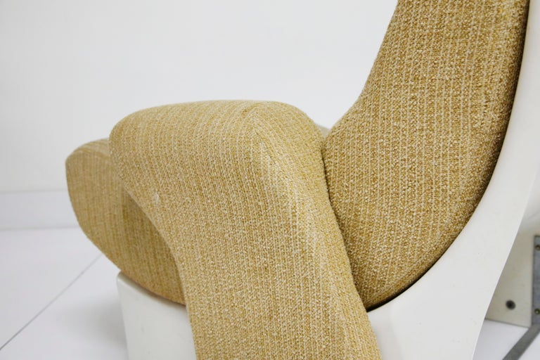 Pair of Fiberglass Scoop Lounge Chairs by Ernst Moeckl, Germany, 1960s 7