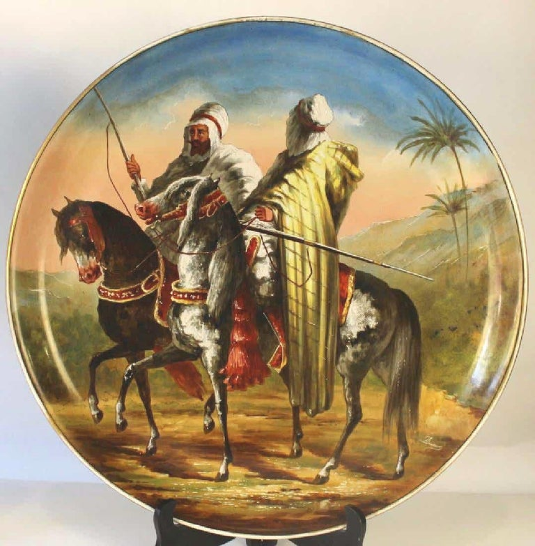 Other Pair of Figural Orientalist Chargers from Limoges For Sale