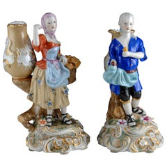 Pair of Figures with Vases, Porcelain, 20th Century