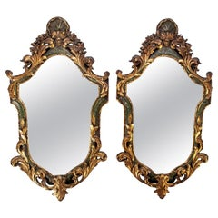 Pair of Fine 19th Century Venetian Painted and Gilt Mirrors
