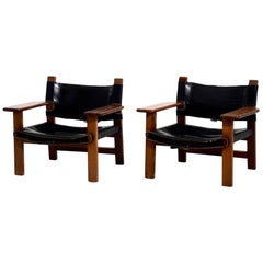 """Pair of Fine Armchairs """"Spanish chair"""", Attributed to Børge Mogensen, circa 1960"""