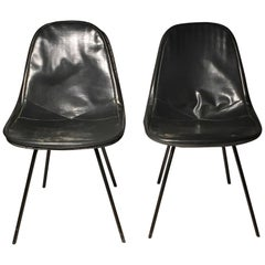 Pair of Fine Early DKX Charles Eames Chairs for Herman Miller
