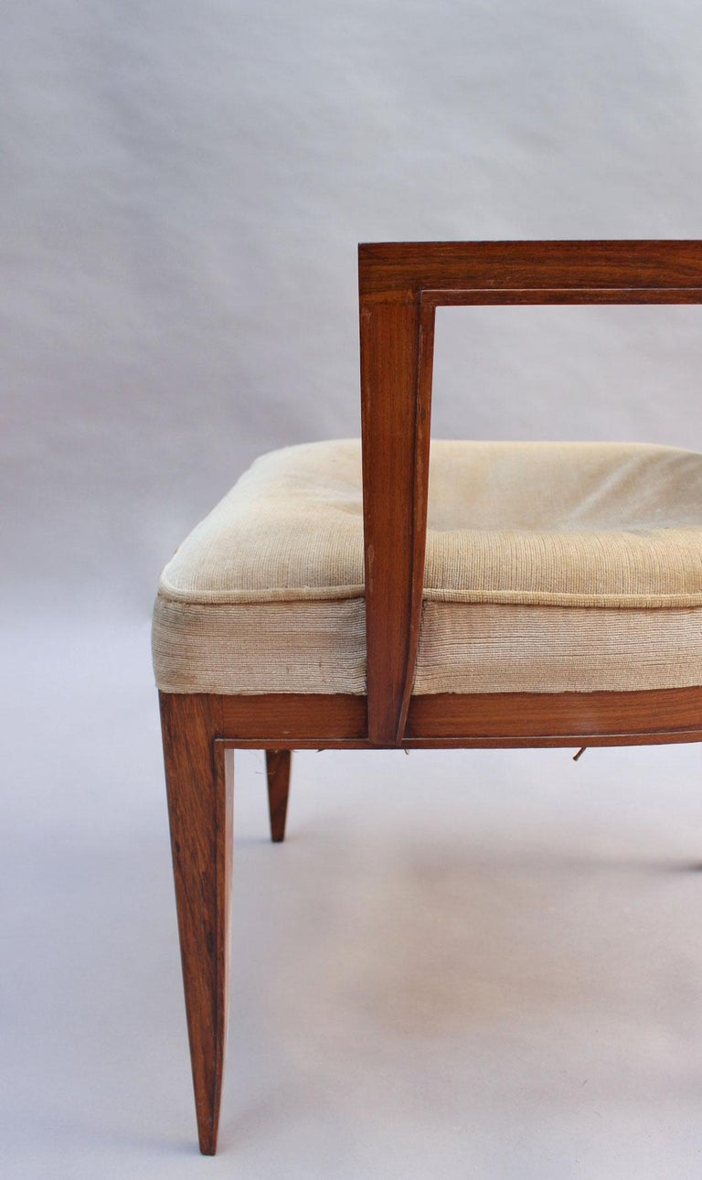 Pair of Fine French Art Deco Rosewood Armchairs by Maxime Old For Sale 5