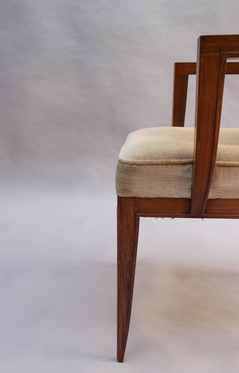 Pair of Fine French Art Deco Rosewood Armchairs by Maxime Old For Sale 6